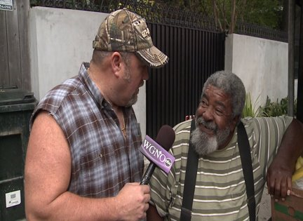 Larry the Cable Guy meets Mr. Okra