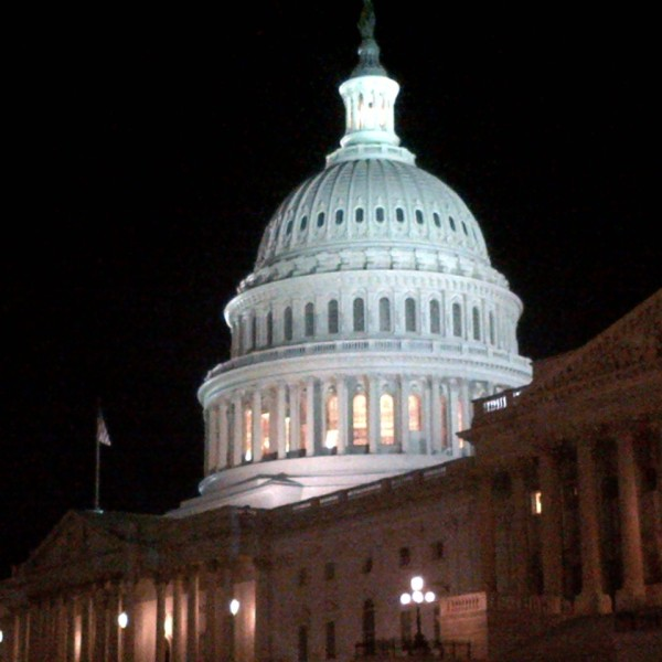 U.S. Capitol shines brightly as the Cruz filibuster goes on