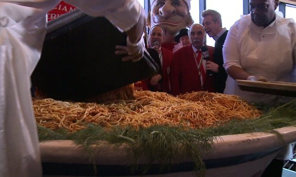 World's Biggest Bowl of Pasta