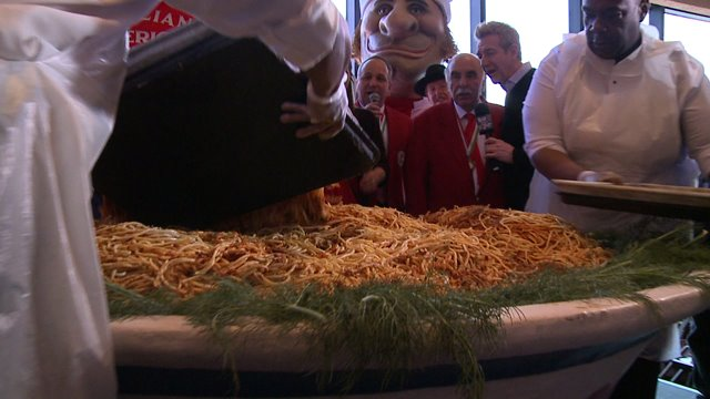 World's Biggest Bowl of Pasta