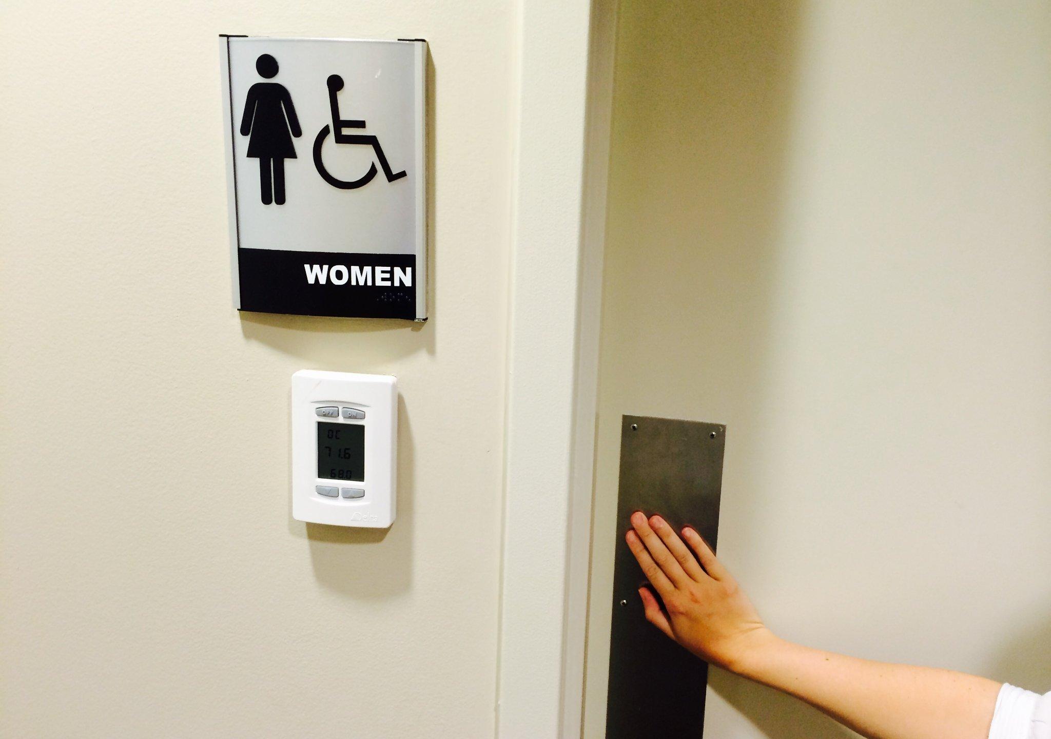Restroom Sign and Door