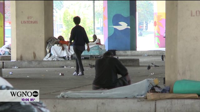 The homeless– living under the pontchartrain expressway– now have 48-hours to pack up and relocate.
