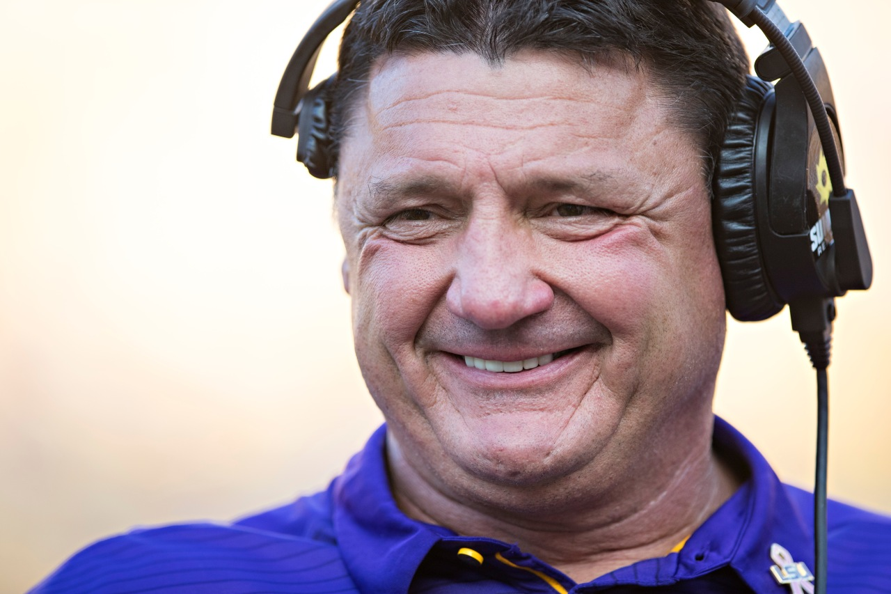 WATCH: Ed Orgeron talks defense, QB situation ahead of matchup with Auburn