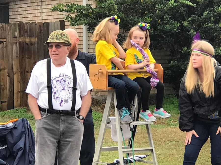 The Krewe Of Napoleon Brings Large Family Crowds To The Streets Of
