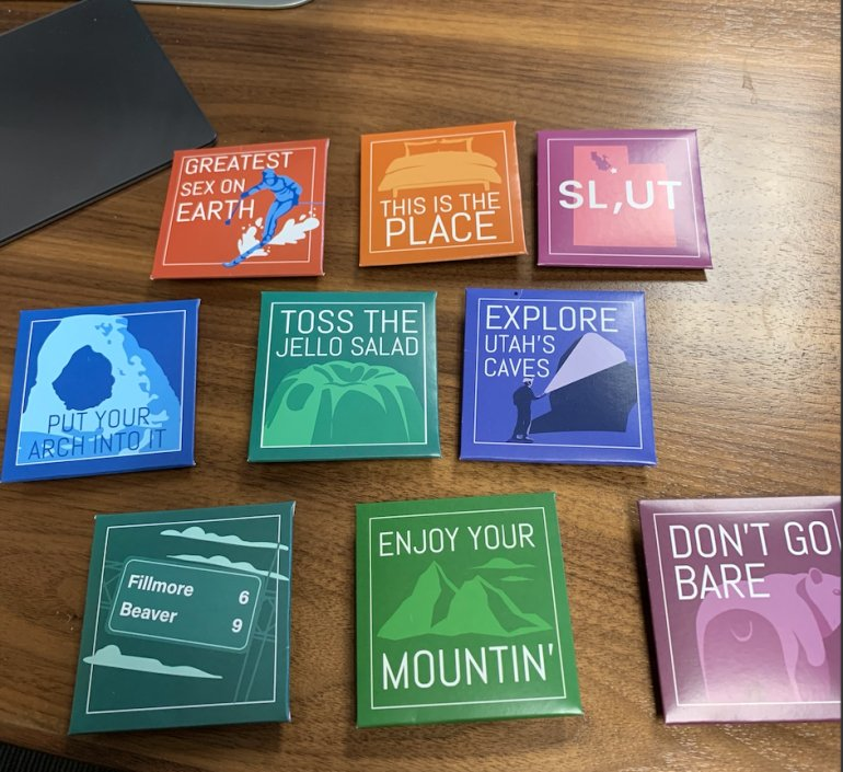 Condoms created by the Utah Dept. of Health and Love Communications to encourage HIV prevention. Image courtesy Utah Dept. of Health)