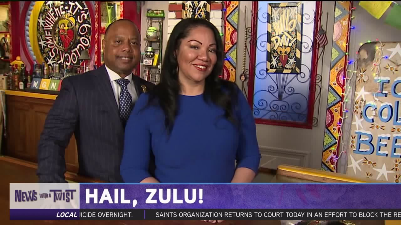 Zulu King and Queen Visit WGNO