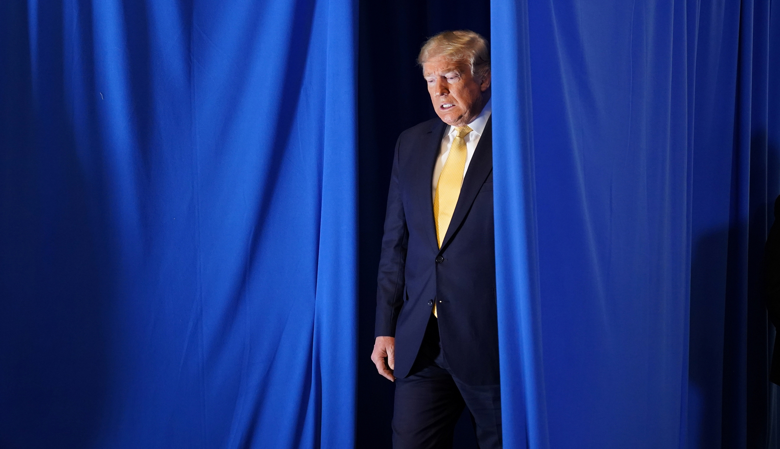"U.S. President Donald Trump arrives to speak at a ""Hope for Prisoners"" graduation ceremony at the Metropolitan Police Department headquarters in Las Vegas, Nevada, U.S., February 20, 2020. REUTERS/Kevin Lamarque"