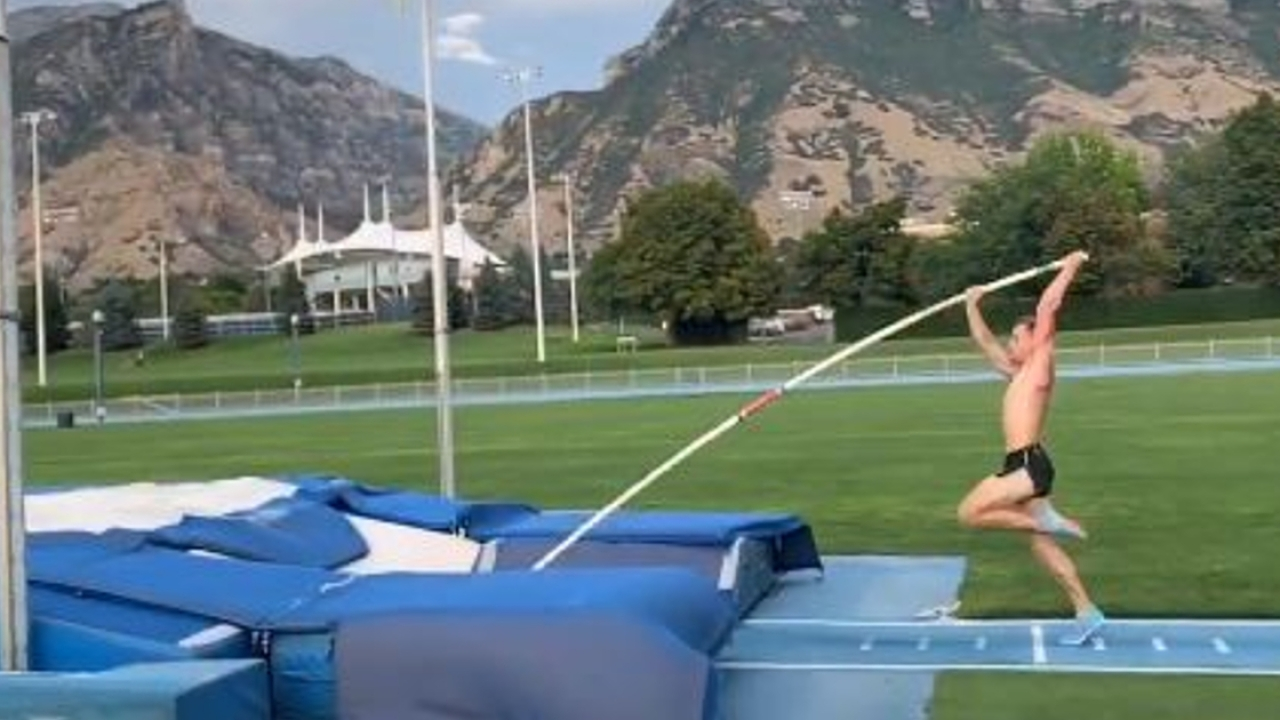 College pole vaulter's gut-wrenching groin injury video goes viral