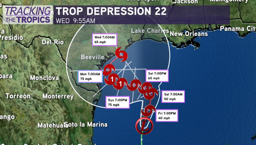 Tropical Storm Wilfred forms in the Atlantic. Tropical Storm Alpha likely to form in the Gulf later today.