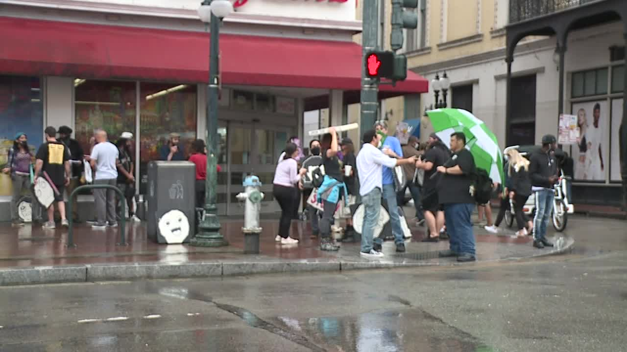 Peaceful protest by New Orleans bar and restaurant workers