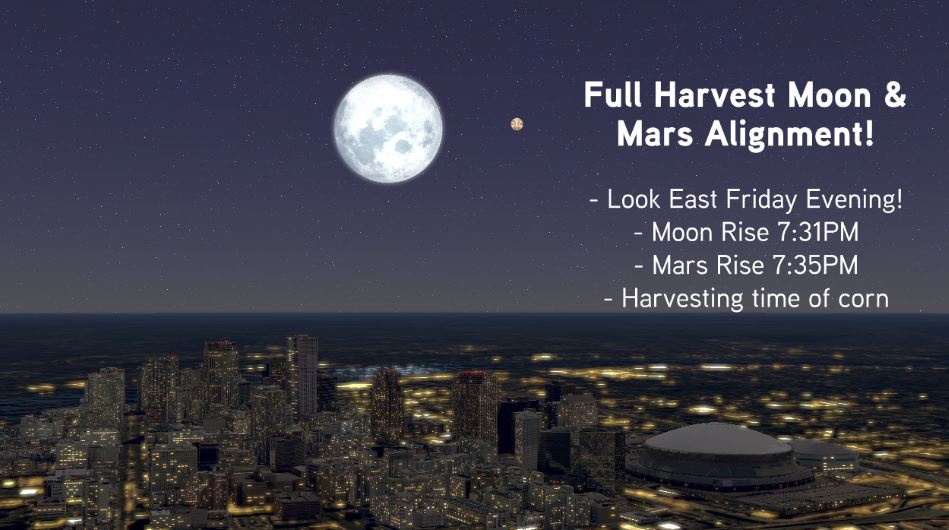 Happy October! Look up tonight to see the FIRST of a couple full moons this month!