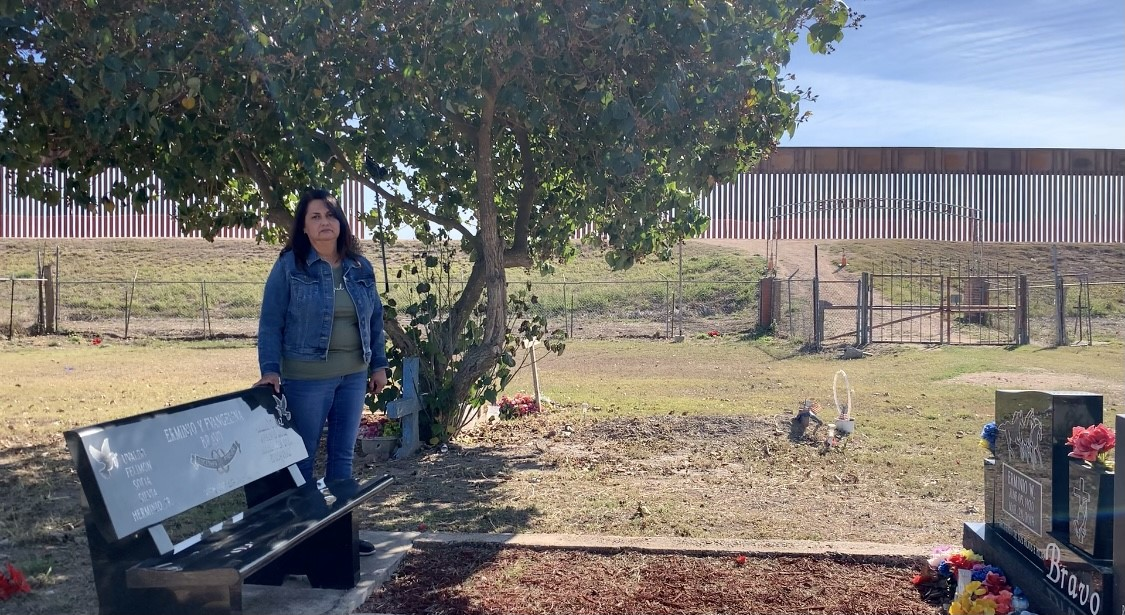 Border wall disturbs peace at centuries-old cemetery in South Texas, descendant says