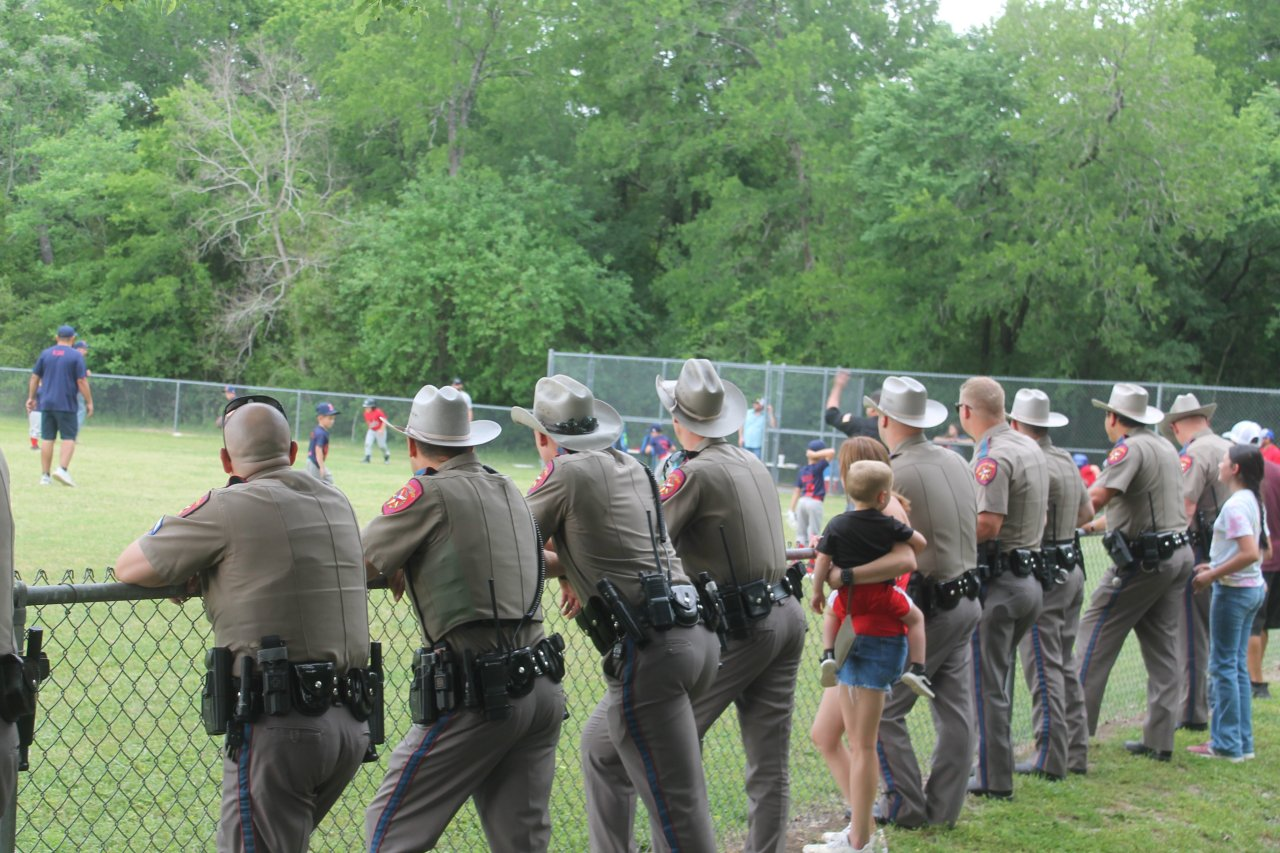 Trooper shot in Bryan out of hospital, DPS shows support at son's baseball game