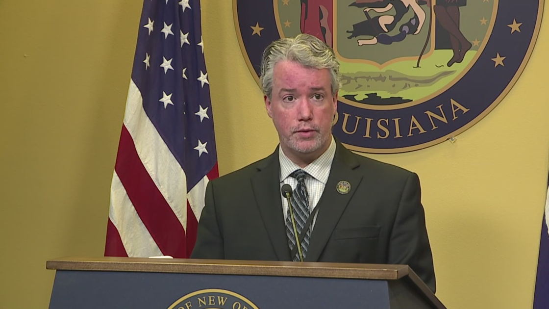 Beau Tidwell at Mayor Cantrell's weekly press briefing