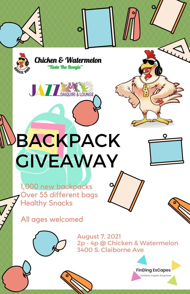 New Orleans backpack giveaway