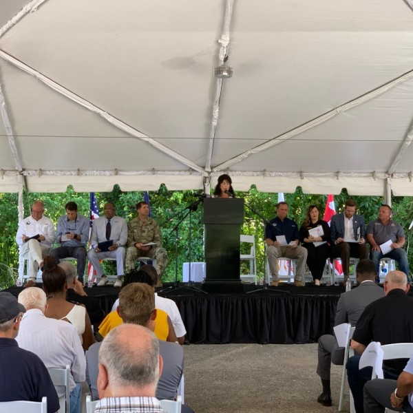 Groundbreaking ceremony for West Shore Lake Pontchartrain flood reduction project
