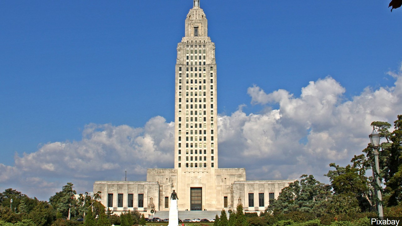 Louisiana state capitol building in Baton Rouge