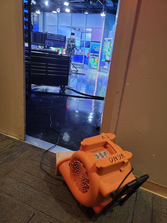 Galleria damaged during Hurricane Ida