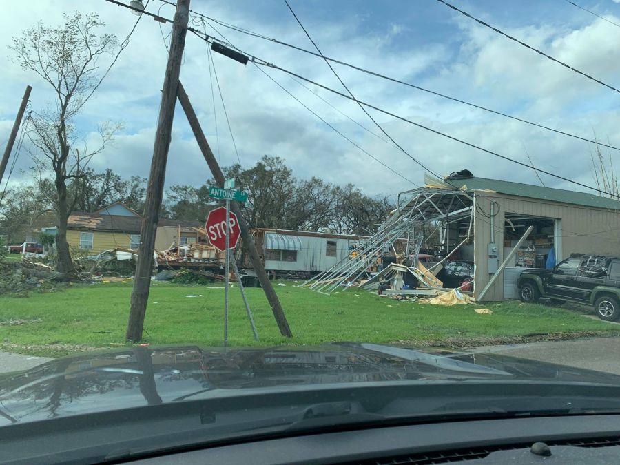 Garage destroyed by Hurricane Ida