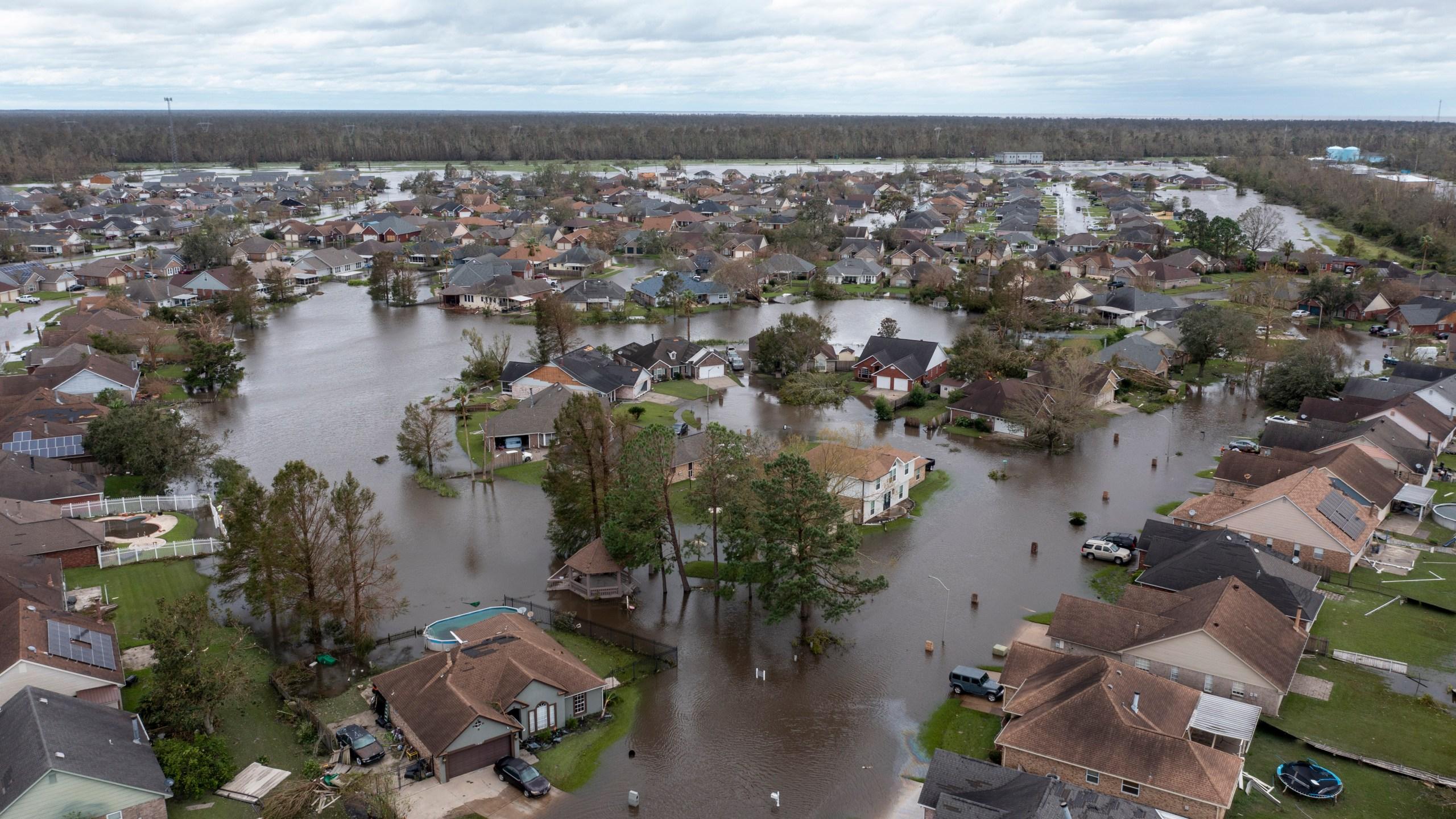 Laplace flooding from Hurricane Ida