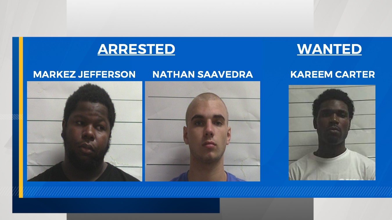 NOPD arrests two, searches for one suspect in connection to Bourbon Street shooting.