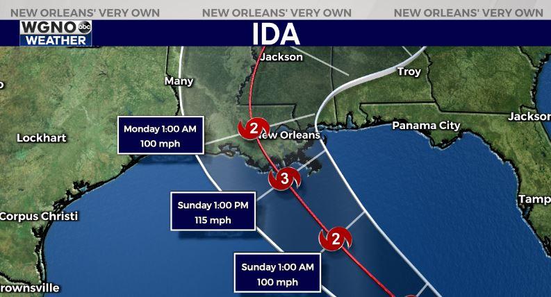 Tropical Storm Ida nearing Louisiana coast