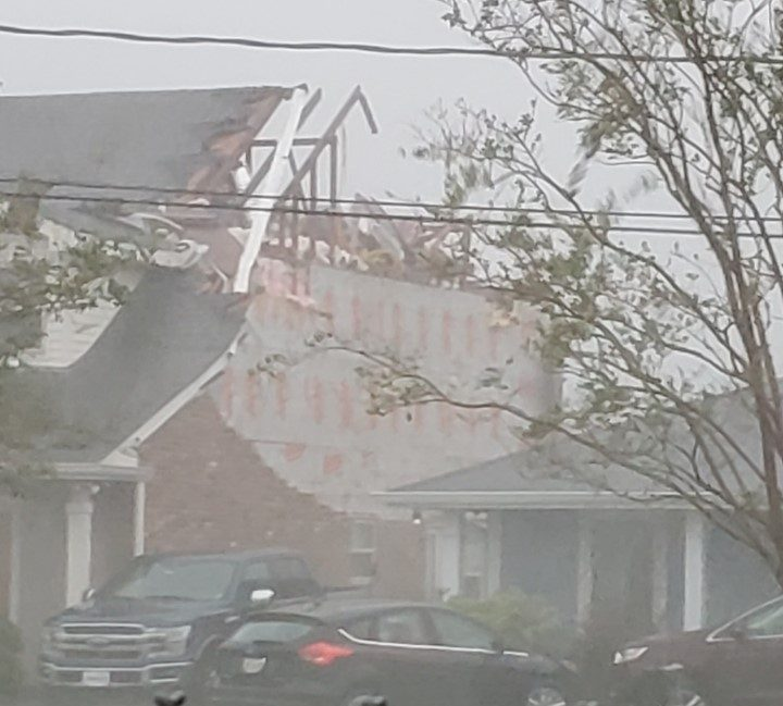 Home severely damaged on Apple Street in Metairie, by Hurricane Ida