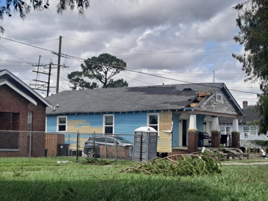 Homes damaged in the 9th Ward