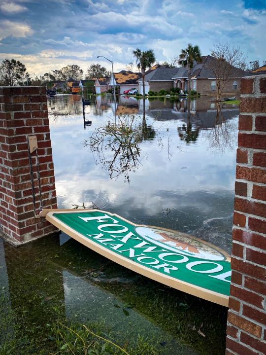 LaPlace neighborhood flooding