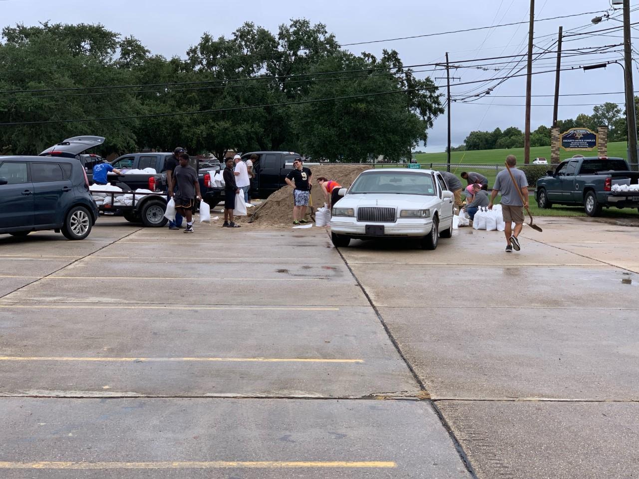 Sandbag filling stations in St. Charles Parish