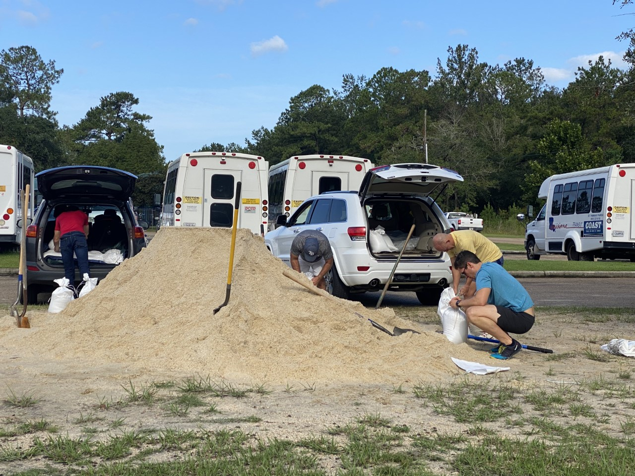 St. Tammany sandbag filling locations for Tropical Storm Ida