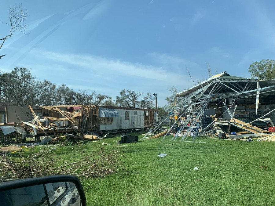 Storm damage in Luling
