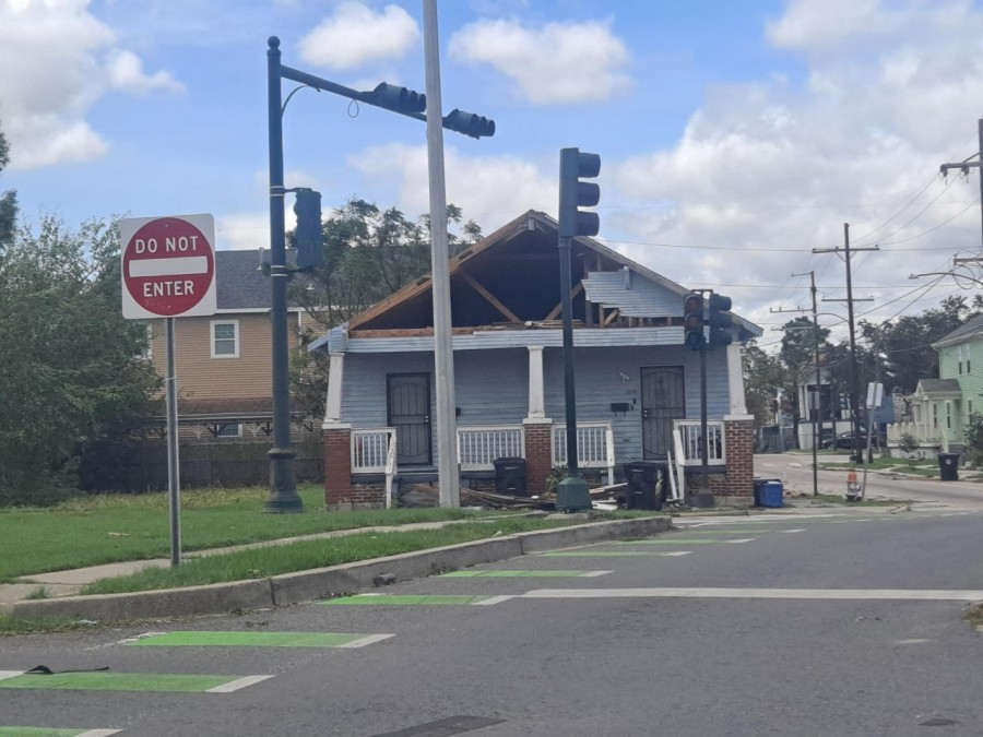Storm damage in the 9th Ward
