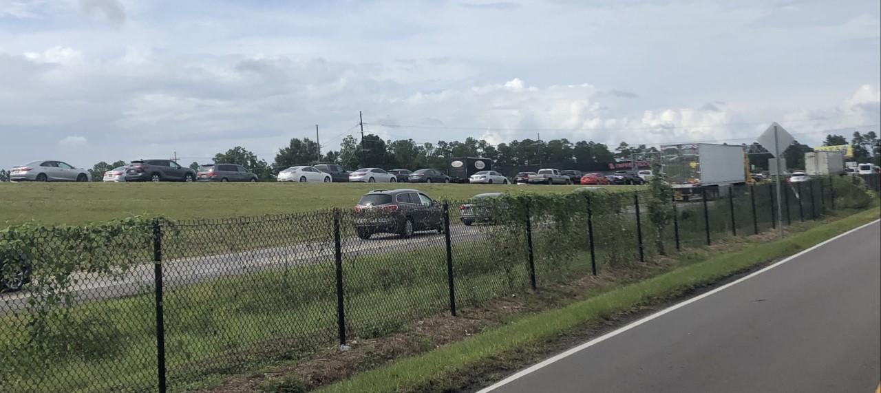 Evacuation traffic during Hurricane Ida