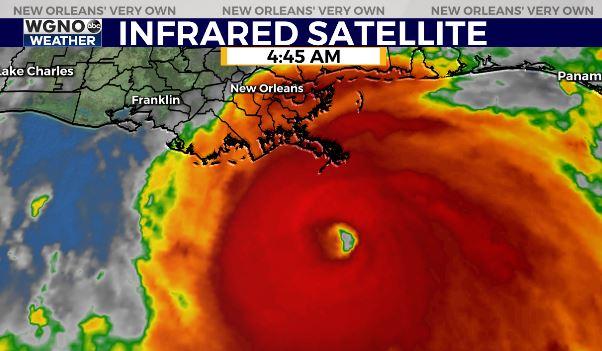 Hurricane Ida nearing landfall